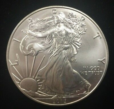 2015 1 oz AMERICAN SILVER EAGLE BRILLIANT UNCIRCULATED ASE  ~ Free Shipping