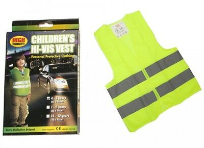 New Kids Hi-Vis Safety Reflective Waistcoat Luminous Wear Cycling Walking Hiking