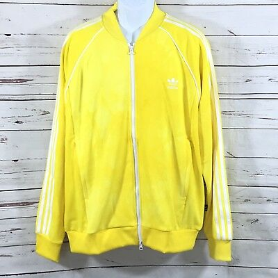 6d6936bef New Adidas Pharrell Williams Hu Holi Superstar Mens Track Jacket Yellow  Size XL