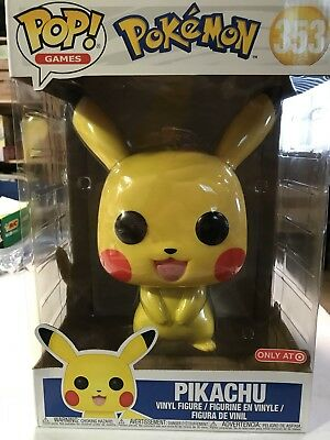 "Funko Pop! Pokemon Pikachu 10"" Inch Target Exclusive IN HAND IMPERFECT BOX"
