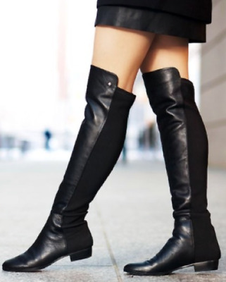 b3188b257e6 $169 SIZE 6.5 Vince Camuto Karita Over The Knee Black Leather Womens Boots