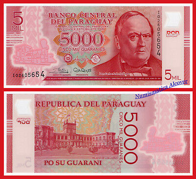 PARAGUAY 5000 Guaranies 2017 Polymer Pick New  SC / UNC