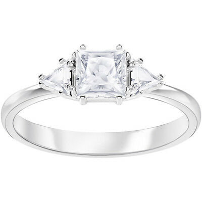 eb9d1591f Swarovski Crystal 5371381 Attract Trilogy Ring in Clear & Rhodium, 7  Factory New