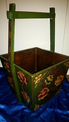 China Holz Korb Reis Behälter Old Chinese Chinese Wood Rice Basket