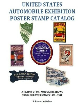 United States Automobile Exhibition Poster Stamp Catalog Auto Car Show