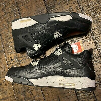 1084ee79fe39 NIKE AIR JORDAN 4 Retro Ls Black-Tech Grey-Black Sz 11 Oreo!  314254 ...