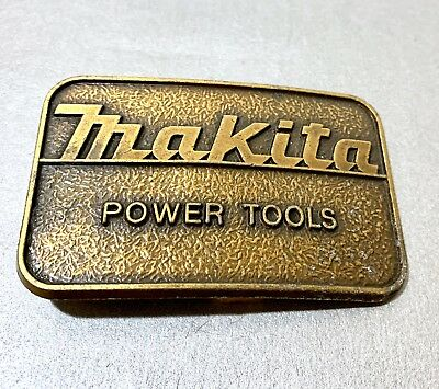 Makita Power Tools Belt Buckle Vintage Solid Brass MADE IN USA