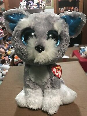"25156b40a0d TY WHISKERS -GREY WHITE Schnauzer Dog 10"" Beanie Boo Buddy!  Retired ..."