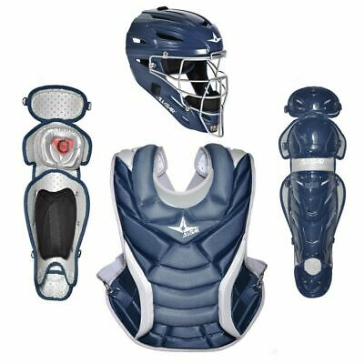 All Star Vela Adult Fastpitch Softball Catchers Gear Set - Navy Blue