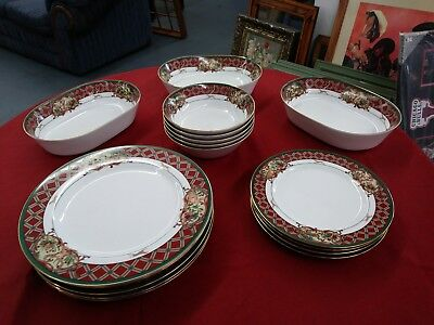 Large Lot Noritake Royal Hunt pattern china serving dishes.17 pieces!
