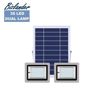 Bizlander 72 LED 2X36 Solar Light with Dual Lamp remote control for Home Busines