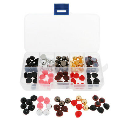 150pcs/box Plastic Safety 8mm Eyes Noses for Teddy Bear Dolls Plush Soft Toy
