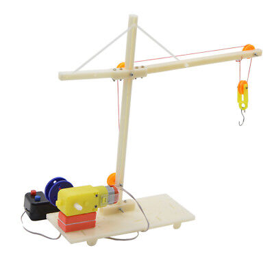 ELECTRIC CIRCUIT KIT DIY Crane Science Toy Physics Pulley