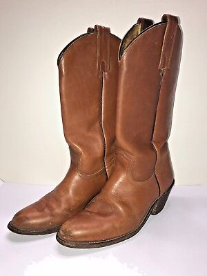 9804af1ad Mens FRYE size 9.5 brown leather western cowboy boots ropers shoes riding  tall