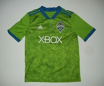 huge selection of 0247f 09240 ADIDAS SEATTLE SOUNDERS FC Green Camo MLS SOCCER JERSEY Shirt Kid Sz YOUTH  LARGE