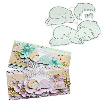 Cutting Dies Sleeping Baby Embossing DIY Metal Craft Scrapbooking Paper Stencils