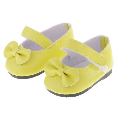 Sticky Strap Shoes For 18' AG American Doll Generation Doll Flats Clothes Dress