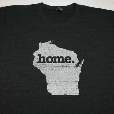 WISCONSIN State Home TEE T SHIRT Mens XXL Tri Blend Soft Style American Apparel