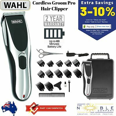 Wahl Cordless Rechargeable Professional Hair Clipper Shaver Grooming Trimmer Set
