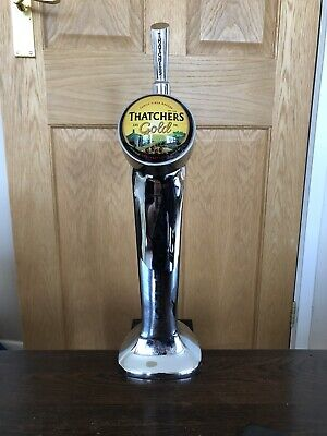 Thatchers Gold Cider Beer Pump Front And Tap Man Cave Home Bar.
