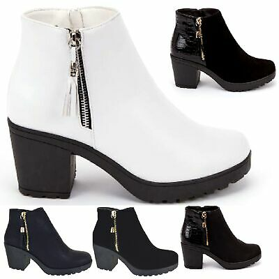 3bb9c82357c Ladies Everyday Casual Work Chelsea Mid Block Heel Womens Boots Shoes Size 3 -8