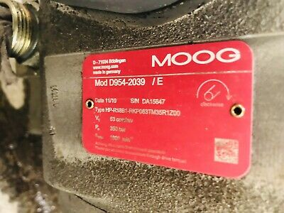 Moog D954-2039 /E Radial Piston Pump HP-R18B1-RKP063TM35R1Z00 As Is/For Parts