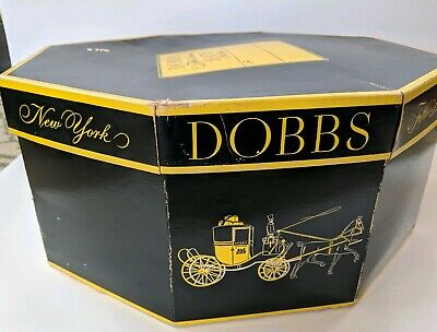Vintage 5th Avenue NY Dobb's Octagon Hat Box Storage Carriage