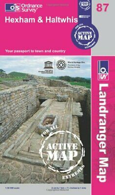 Hexham & Haltwhistle (OS Landranger Map Active) by Ordnance Survey Book The