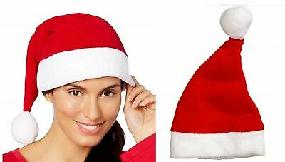 Christmas Gift Macy's Family PJs Super Soft Red Fuzzy Santa Hat Adult One Size