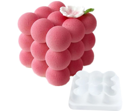 3x3 Spheres From The Series Geometric Desserts 3D Silicone Art Mold Cake Baking