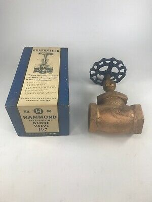 Hammond Five-in-One Globe Valve No. H 400 - 1 1/2 inches 125 lbs. Water Pressure