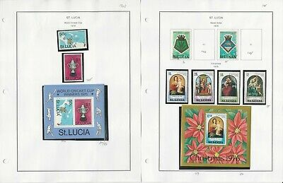 St Lucia Stamp Collection 1976 to 1981 on 24 Album Pages