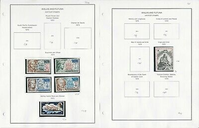 Wallis & Futuna Stamp Collection 1946-99 Airpost on 17 Pages, French Colony