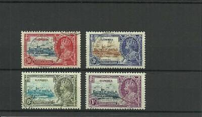 Gambia Sg143-146 1935 Silver Jubilee Set Fine Used