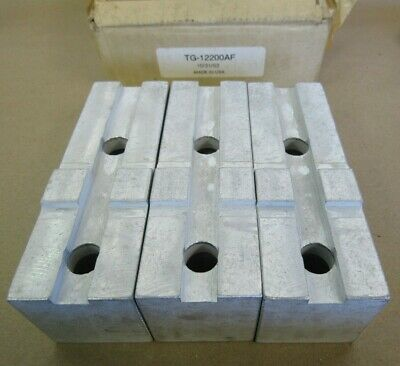 """TG-15200AF ALUMINUM SOFT JAWS FOR TONGUE /& GROOVE 15/"""" CHUCK W//A 2/"""" HT 3PC SET"""