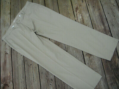 15d05f802c438f mens NIKE golf khaki trousers pants size XL w 42 x 32 flat front stretch  polyest