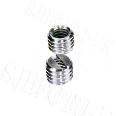 2X 1/4 to 3/8 Convert Screw Thread Adapter for Camera Tripod Studio Stand Mount