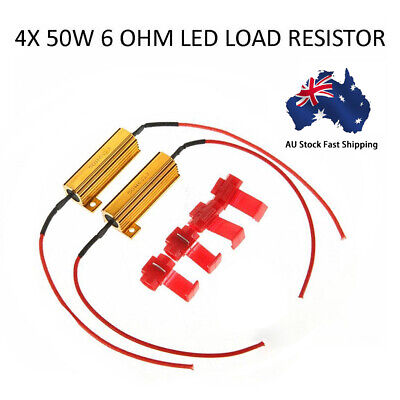 4X 50W 6OHM SMD LOAD RESISTOR W/ 4 T-TAPS Aluminum Shell Resistance