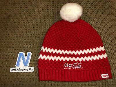 1efe96524 COCA-COLA COKE WINTER Knit Hat Beanie Red White - BRAND NEW