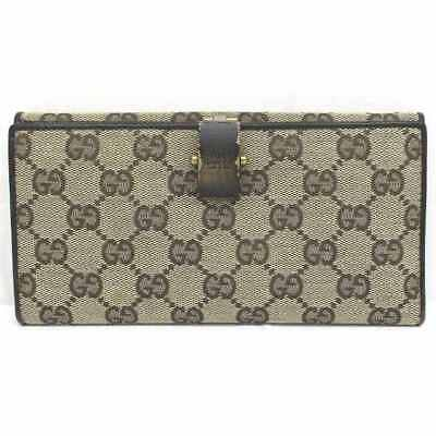 551e66176cd GUCCI GG Canvas 106614 Beige Double Sided Wallet Free Shipping  Used