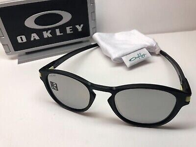 ce65a39698 Oakley Latch VR46 Black Sunglasses 9265-2153 Valentino Rossi Chrome Iridium  Lens