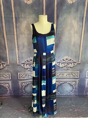 047d73bdecf8 Ann Taylor Silky Painted Rothko Style Maxi Dress 12T Scoop Neck Cocktail  Party