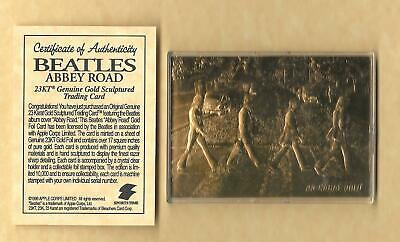 THE BEATLES 23Kt Gold Card Abbey Road London Album Music World Famous BOX & COA
