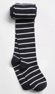 b9a149394f7 Gap Kids Girl   Stripe Tights Bottom Navy Blue Gray Size XL   XXL   10