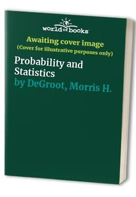 Probability and Statistics by DeGroot, Morris H. Paperback Book The Cheap Fast
