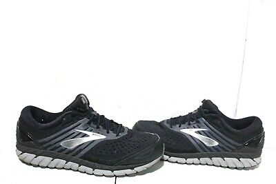 4f90388e83cea F1-685 Brooks Beast 18 Black Grey Silver Men Running Shoes SZ 14 4E
