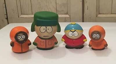 4 South Park Characters Figures 2 Kenny's, Kyle and Cartman