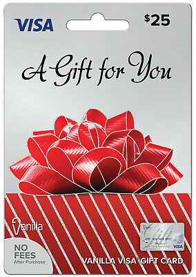 $25 Gift Visa Card. Activated. Free Shipping. Ready to use. No fees.