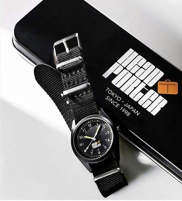 5807666f9f1d HEAD PORTER Black Military Watch Limited With Metal Box Limited From Japan