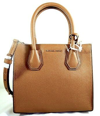 19fc12de0325 MICHAEL KORS MERCER Bond Leather Medium Messenger Shoulder Bag in ...